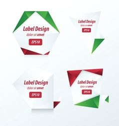 LABEL DESIGN Origami styles vector