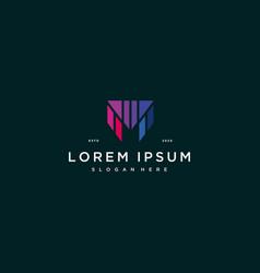 Letter m colorful logo design vector