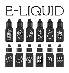 Liquid to vape vector image