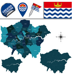 Map greater london uk vector