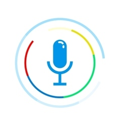 Microphone icon Voice control application vector