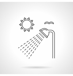 Outdoor shower flat line icon vector image