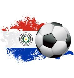 Paraguay Soccer Grunge Design vector