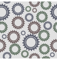 Pattern seamless gear vector