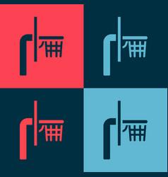 Pop art basketball backboard icon isolated on vector