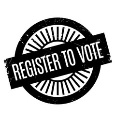 Register to vote rubber stamp vector