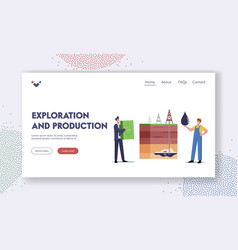 Resource exploration and production landing page vector