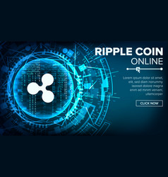 ripple abstract technology background vector image