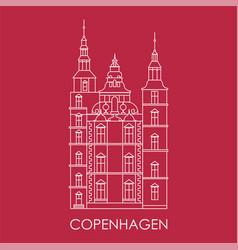 rosenborg castle the symbol copenhagen denmark vector image