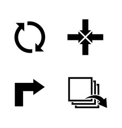 rotation simple related icons vector image