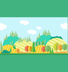 Seamless horizontal autumn landscape vector