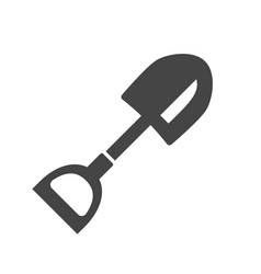 shovel bold black silhouette icon isolated vector image