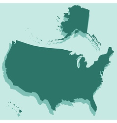 Silhouette map of USA vector image