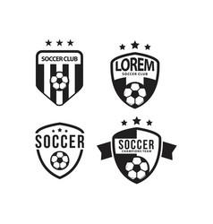 Soccer club logo set template design vector