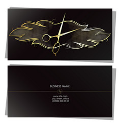 stylist beauty salon business card concept vector image