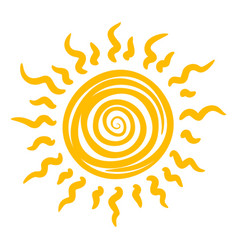 sun icon heat summer sunshine and light vector image