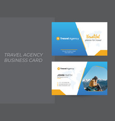 travel tour agency business card design vector image