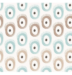 tribal seamless pattern with abstract feathers and vector image