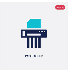 Two color paper shder icon from business and vector