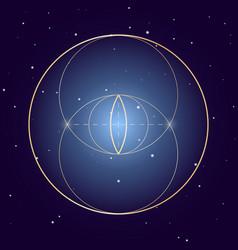 vesica piscis symbol sacred geometry vector image