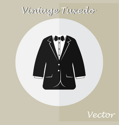 Vintage tuxedo suit or business suit vector