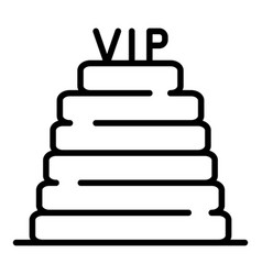 Vip steps icon outline style vector