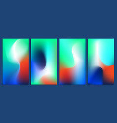 vivid blurred holographic gradient backgrounds vector image