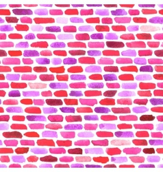 Watercolor bricks abstract seamless vector