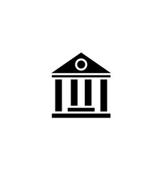 web icon classical building with columns vector image