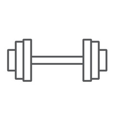 weightlifting thin line icon gym and sport vector image
