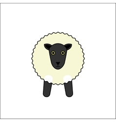 White sheep outline vector