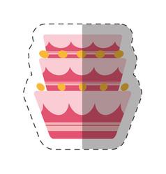 Cake party dessert shadow vector