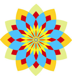 graphic flower vector image