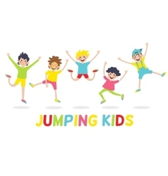 happy kids isolated on white background vector image