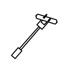 sausage fork picnic outline vector image vector image