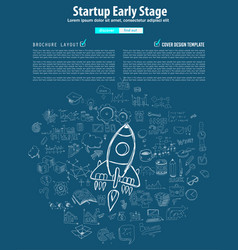 startup landing webpage or corporate design vector image vector image