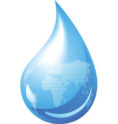 water drop globe vector image vector image