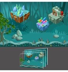 Cartoon Mining Game Concept vector image vector image