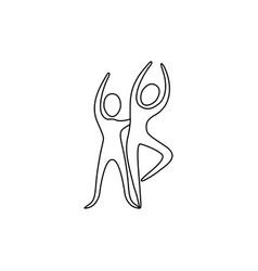 figure people couple dancing icon vector image