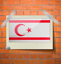 Flags turkish northern cyprus scotch taped to a vector