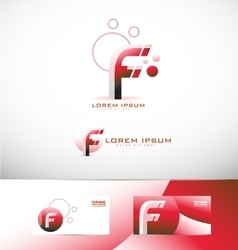 Letter F logo icon set vector image vector image