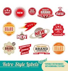 Retro label Set vector image