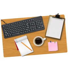 smart phone and office supplies vector image