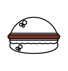 burger fast food outline vector image vector image