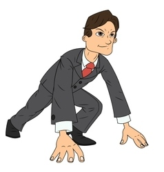 Businessman starting the race to success vector image vector image