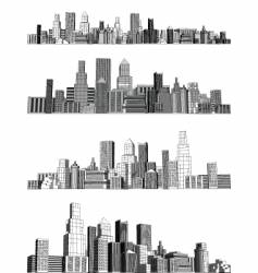 city blocks vector image vector image