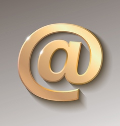 Colored email symbol vector image vector image