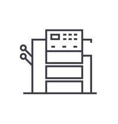 copy machine line icon sign vector image
