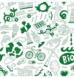 Ecology - seamless background vector image
