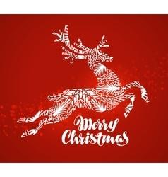 Merry Christmas greeting card Decorative xmas vector image vector image